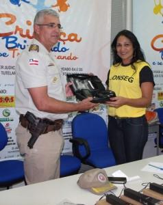 Tenente-coronel Josemar Pereira e Gerluce Carvalho – Presidente do C. C. de Segurança